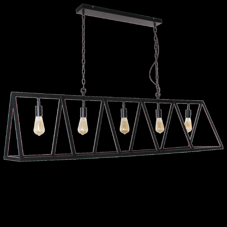 Hanglamp Valerio 5 lichts zwart