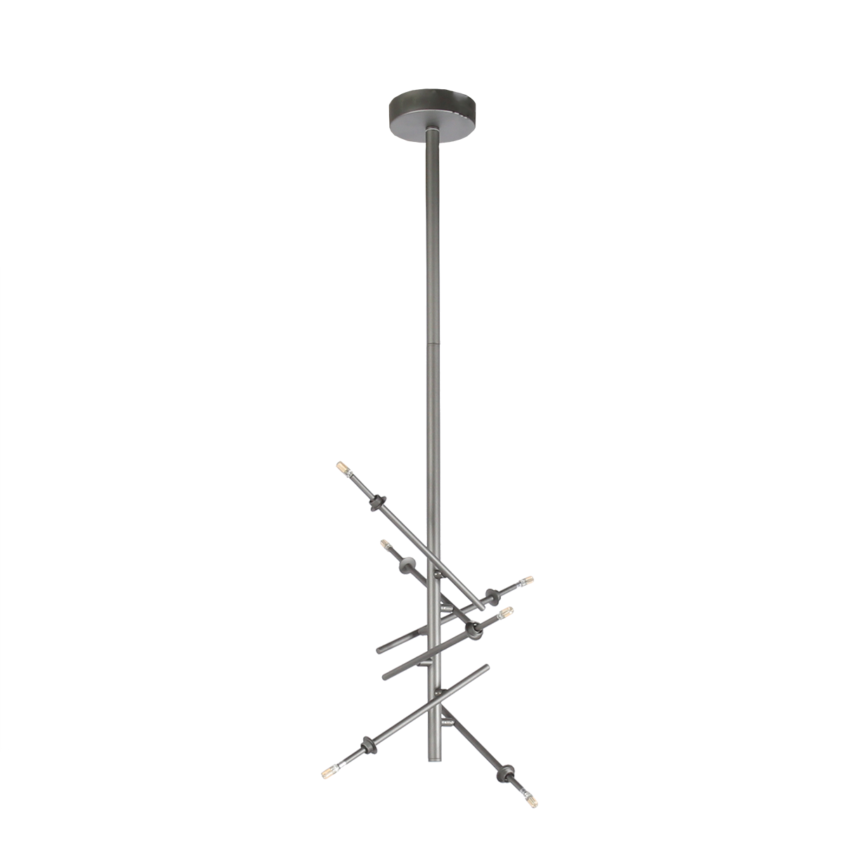 Hanglamp Rivalusso 6 lichts grijs (base)