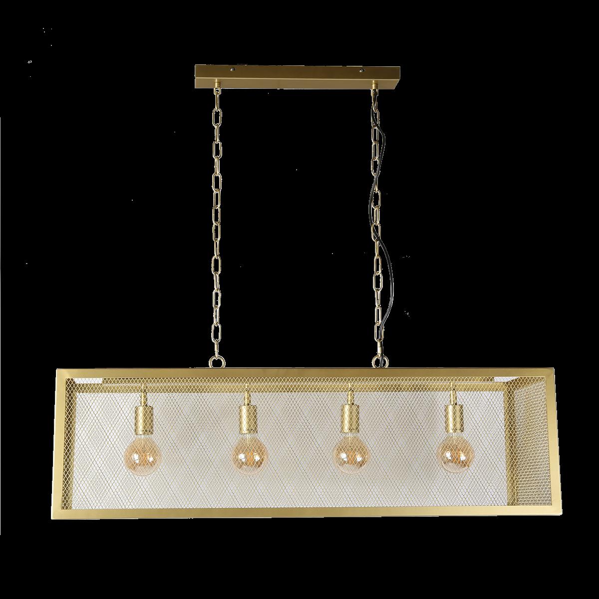 Hanglamp Sweden 4 lichts goud