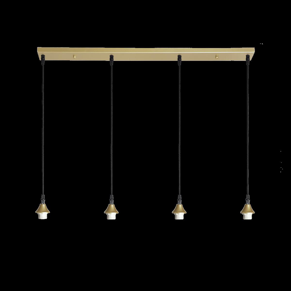 Hanglamp Vilmar 4 lichts goud