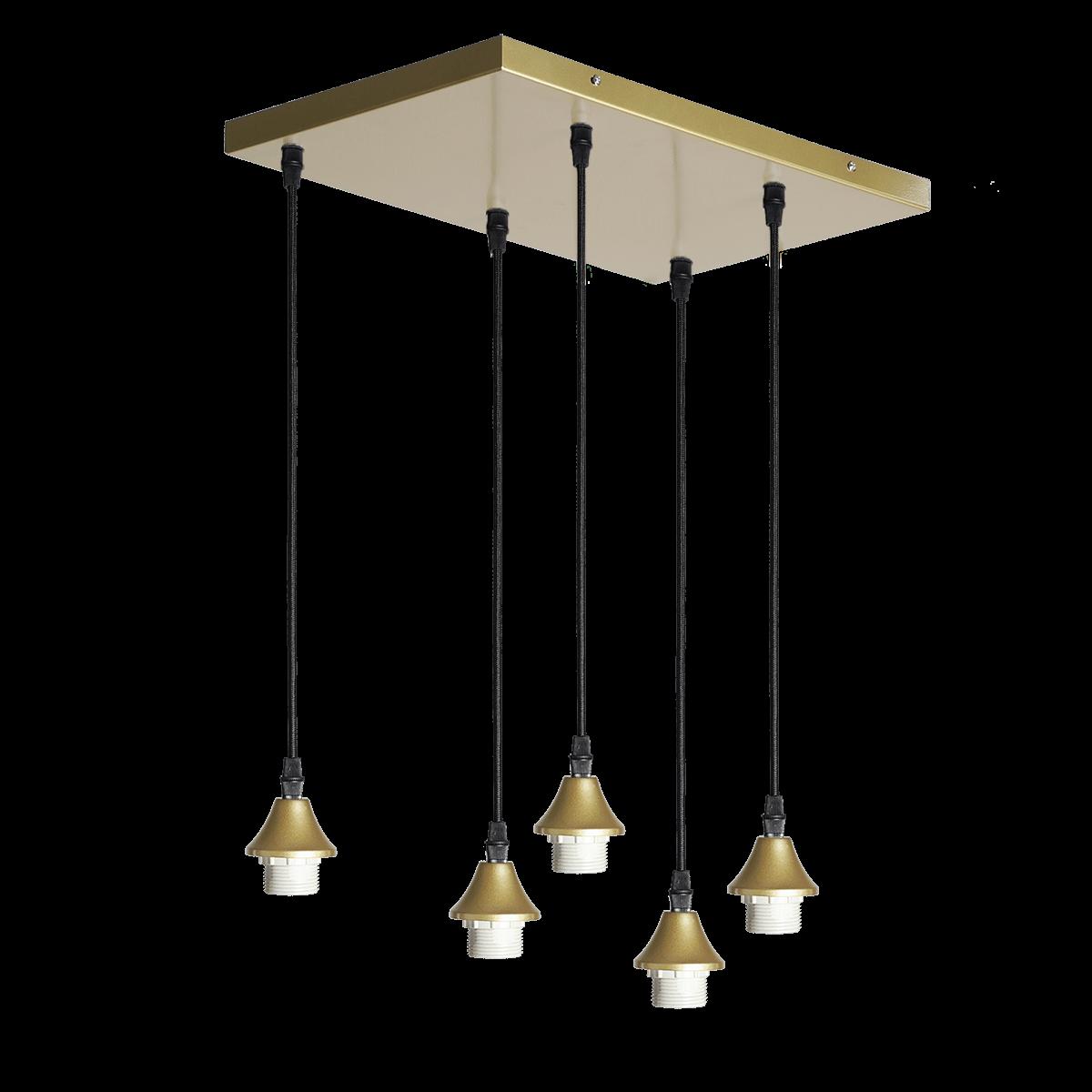 Hanglamp Vilmar 5 lichts goud