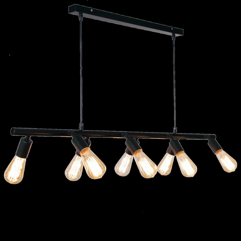 Hanglamp Santino 8 lichts zwart