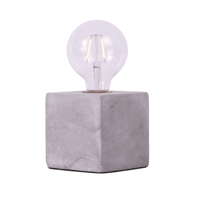 Tafellamp Sweden vierkant 10 x 10 cm cement
