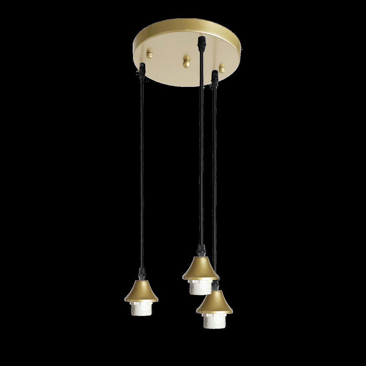 Hanglamp Vilmar 3 lichts goud