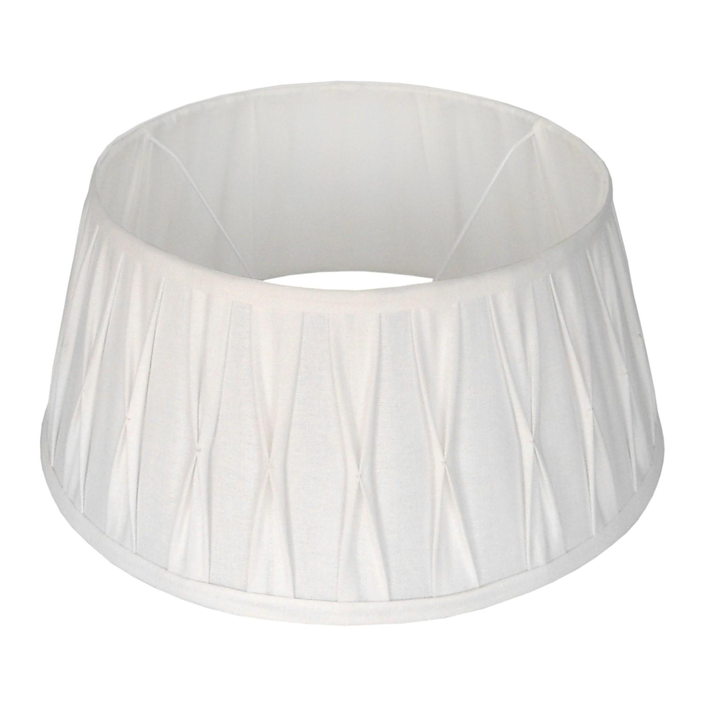 Staande lampenkap plisse Riva drum 35 cm wit