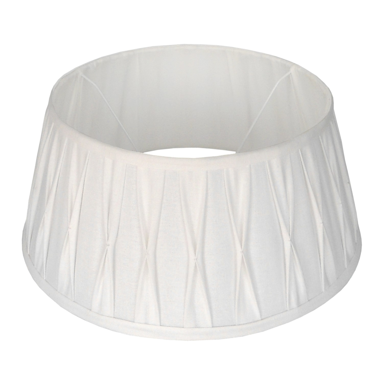 Staande lampenkap plisse Riva drum 40 cm wit