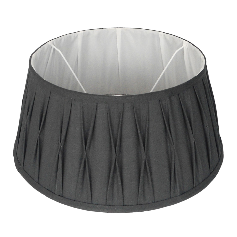 Staande lampenkap plisse Riva drum 45 cm grijs