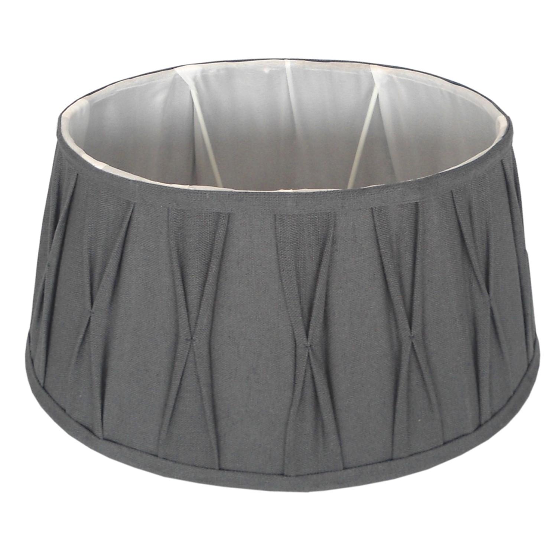Staande lampenkap plisse Riva ovaal 33 cm grijs