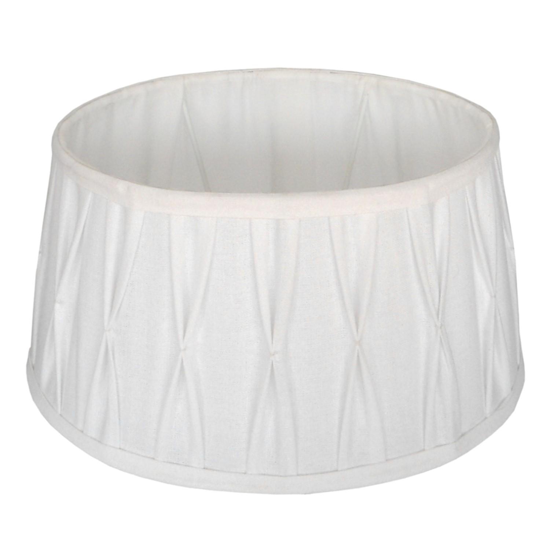 Staande lampenkap plisse Riva ovaal 47 cm wit