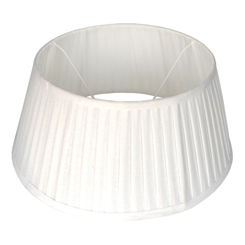 Staande lampenkap plisse Veneto drum 45 cm wit