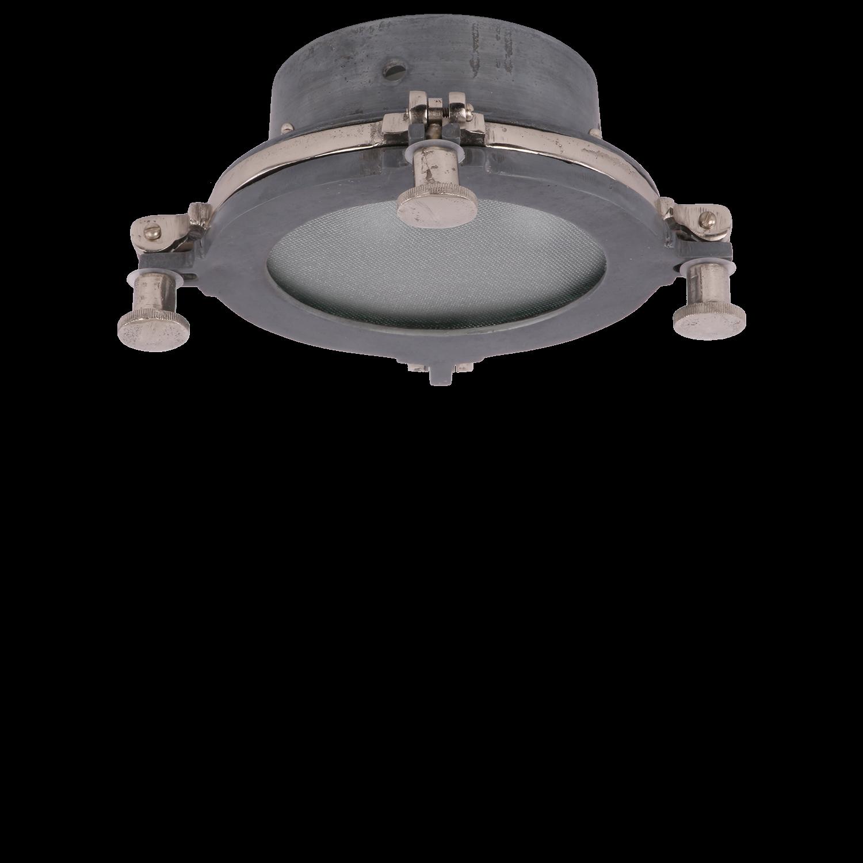 Plafoniere Toscane klein lood + ruw nickel