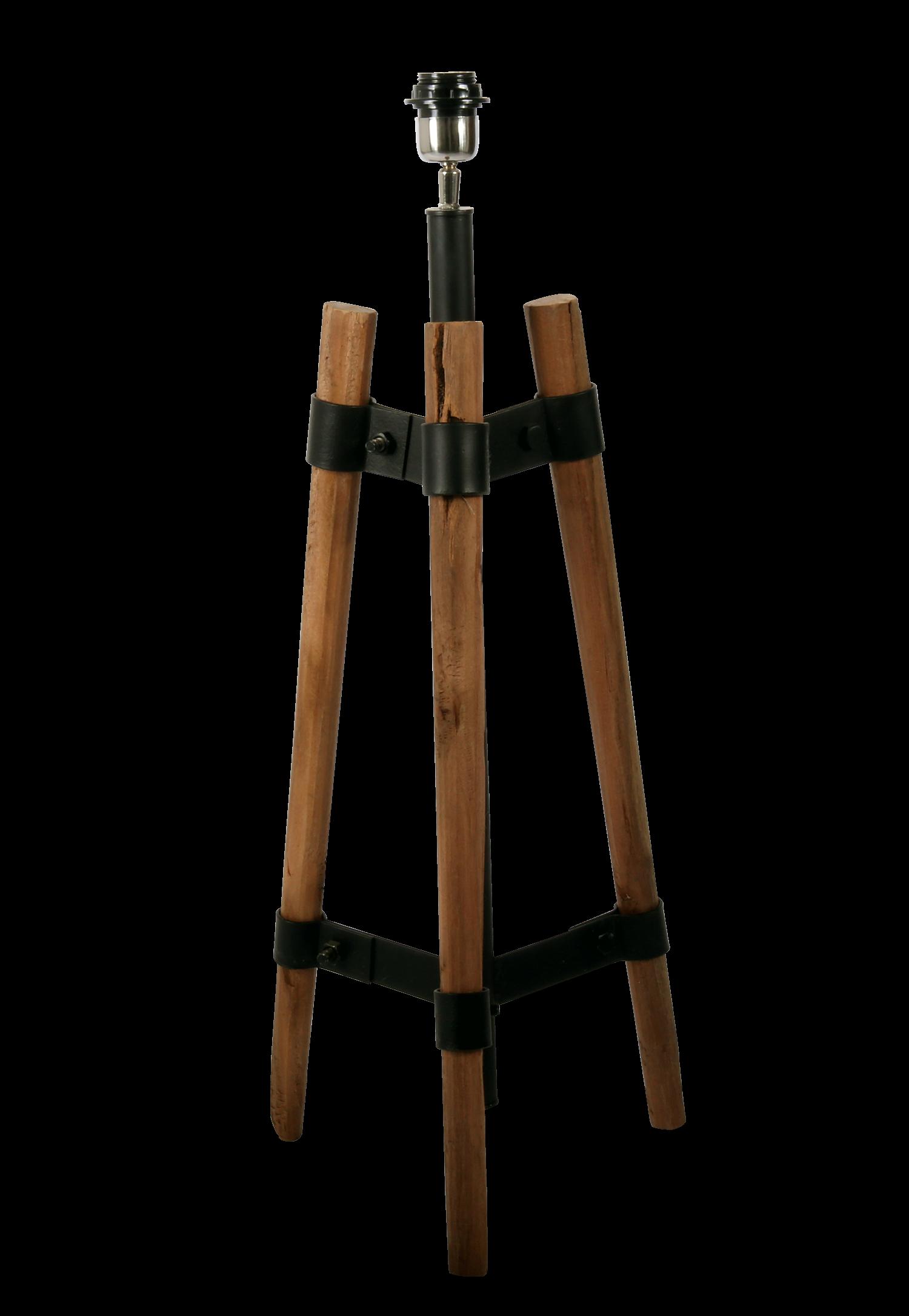 Tafellamp Rivera ruw hout + zwart