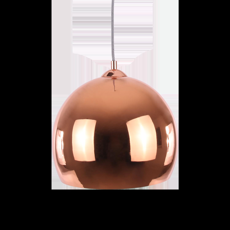 Hanglamp Axel ball Ø40 cm glans koper