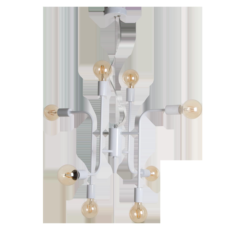 Hanglamp Bjorn 8 lichts wit