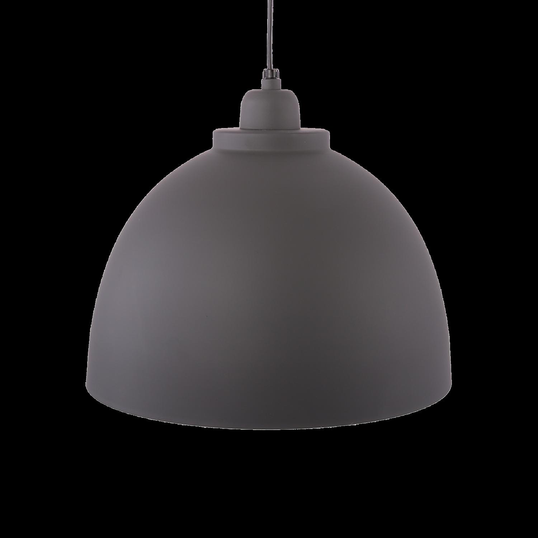 Hanglamp Capri 32 cm mat donker grijs + witte binnenzijde