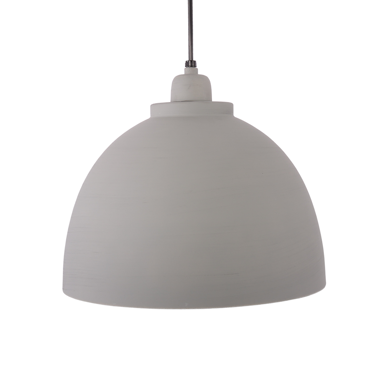 Hanglamp Capri 32 cm mat licht grijs + witte binnenzijde