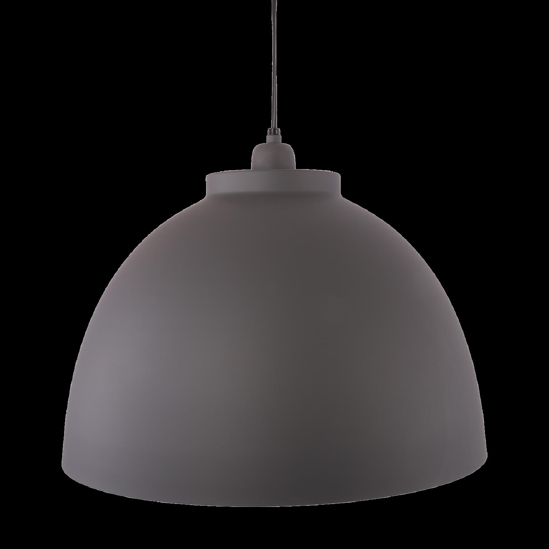 Hanglamp Capri 44 cm mat donker grijs + witte binnenzijde