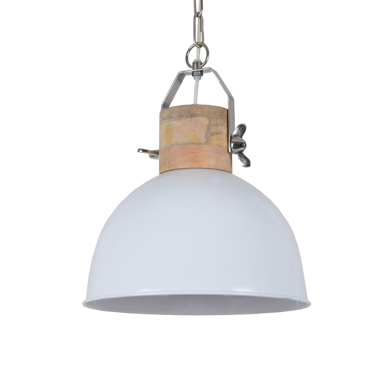Hanglamp Fabriano 30 cm glans wit