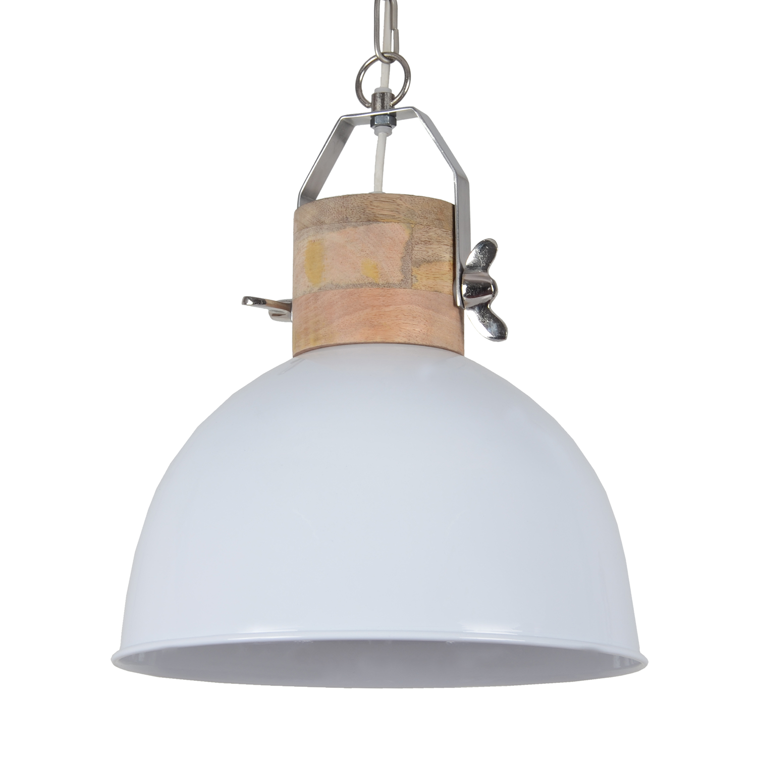 Hanglamp Fabriano 40 cm glans wit