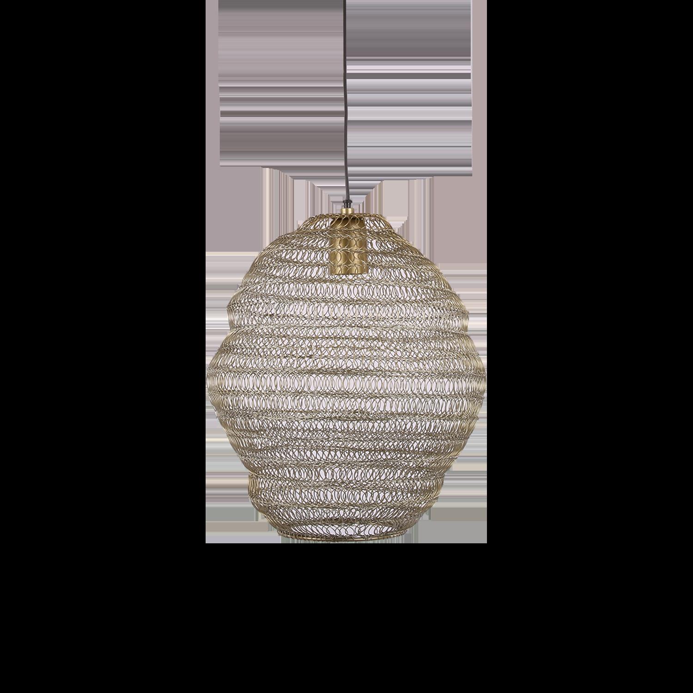 Hanglamp Floriano klein 31362 antiek goud