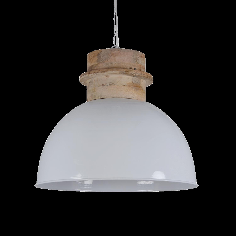 Hanglamp Legno 40 cm glans wit