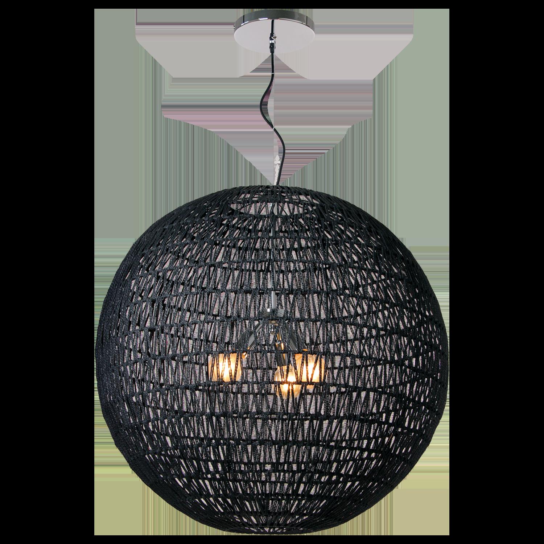 Hanglamp Luca Ø80 cm zwart