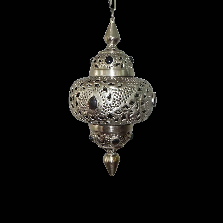 Hanglamp Marrakech klein met grijze stenen