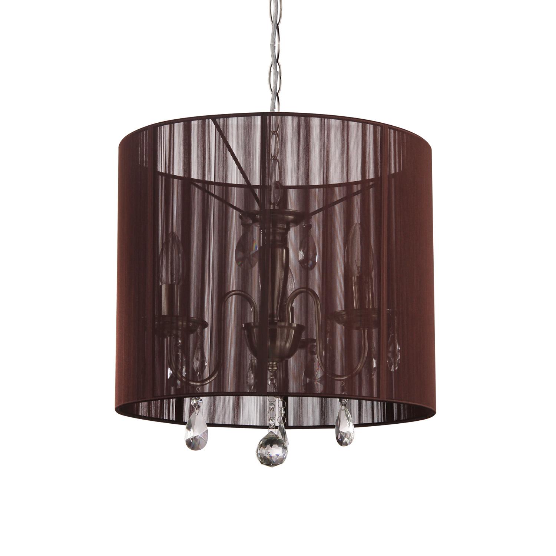 Hanglamp Merel 3 lichts + donkerbruine kap
