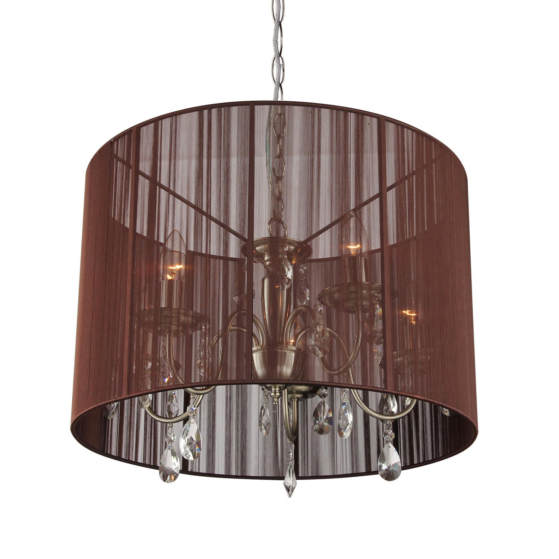 Hanglamp Merel 5 lichts + donkerbruine kap