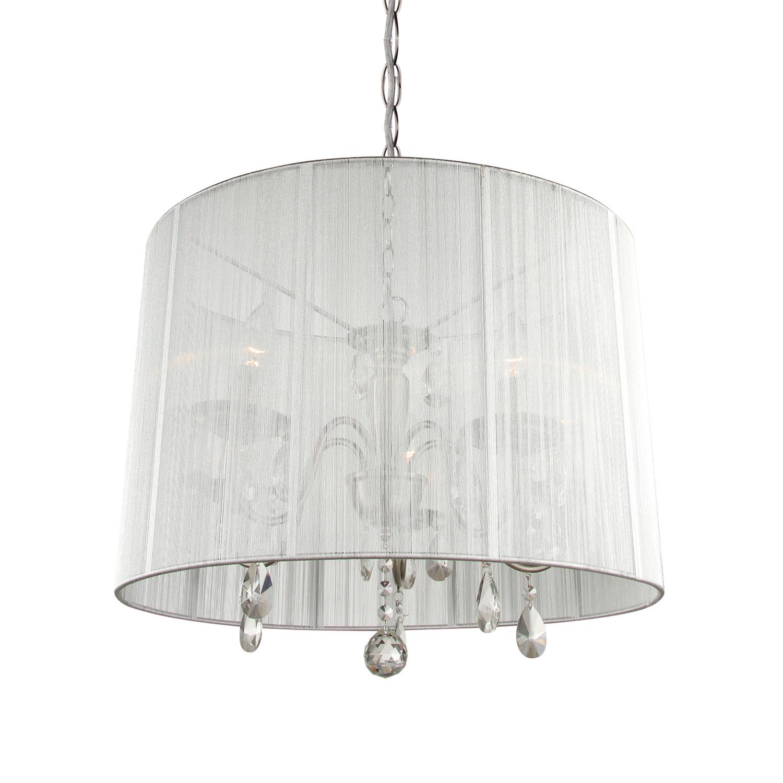 Hanglamp Merel 5 lichts + grijze kap