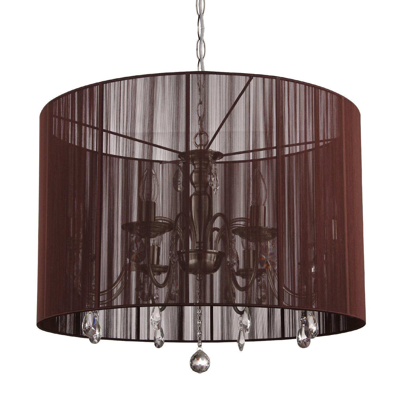 Hanglamp Merel 8 lichts + donkerbruine kap