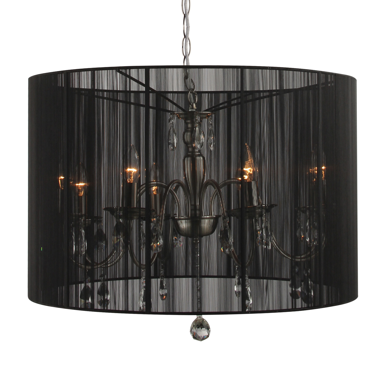 Hanglamp Merel 8 lichts + zwarte kap