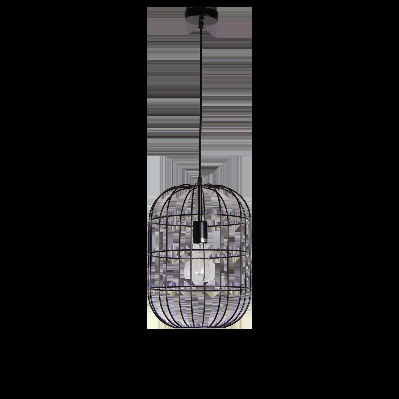 Hanglamp Olaf 30 cm mat zwart
