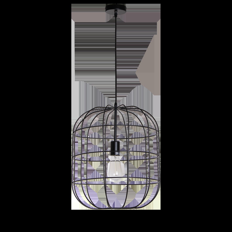 Hanglamp Olaf 40 cm mat zwart