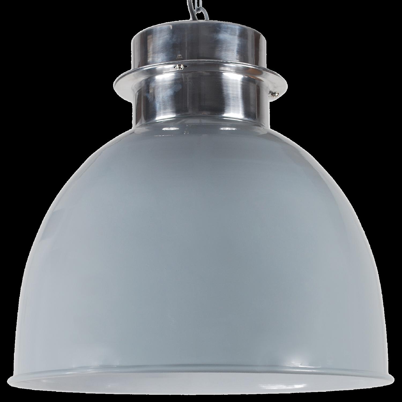 Hanglamp Prato 50 cm glans licht grijs