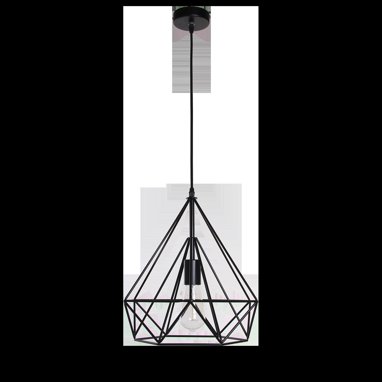 Hanglamp Scandinavian 35 cm mat zwart
