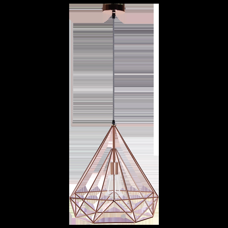 Hanglamp Scandinavian 50 cm copper