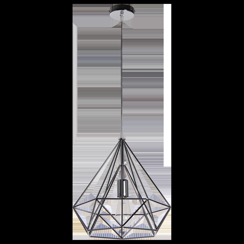 Hanglamp Scandinavian 50 cm glans chroom