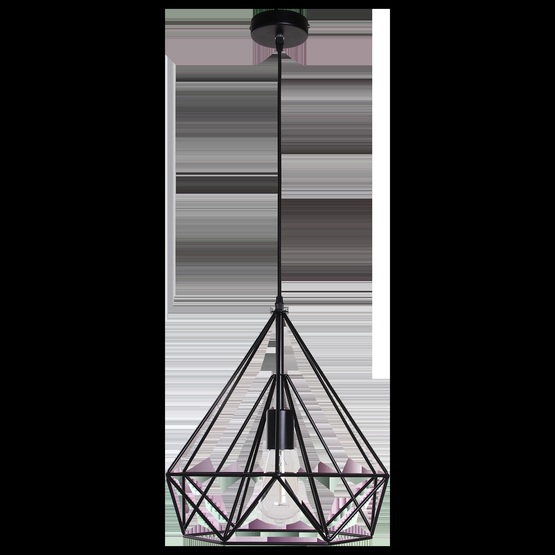 Hanglamp Scandinavian 50 cm mat zwart