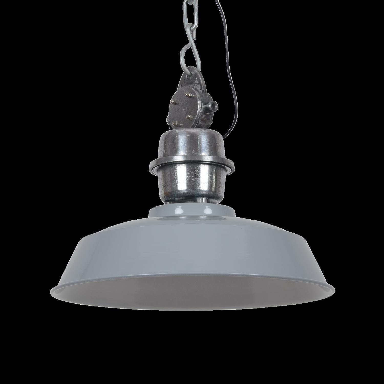 Hanglamp Sesto 42 cm glans licht grijs