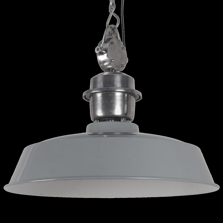 Hanglamp Sesto 62 cm glans licht grijs