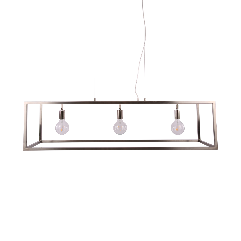 Hanglamp Sven 3 lichts nickel satin