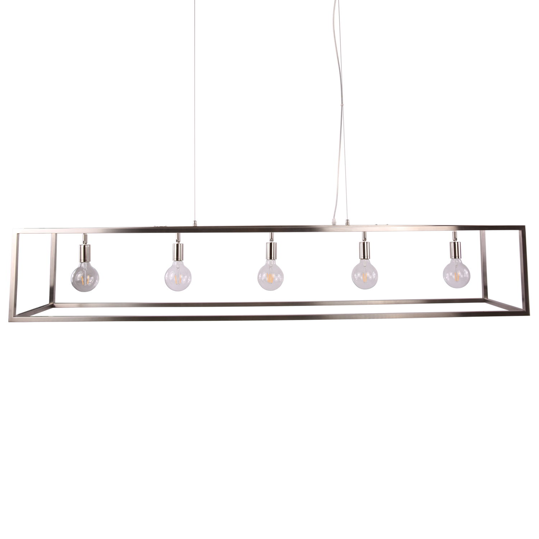Hanglamp Sven 5 lichts nickel satin