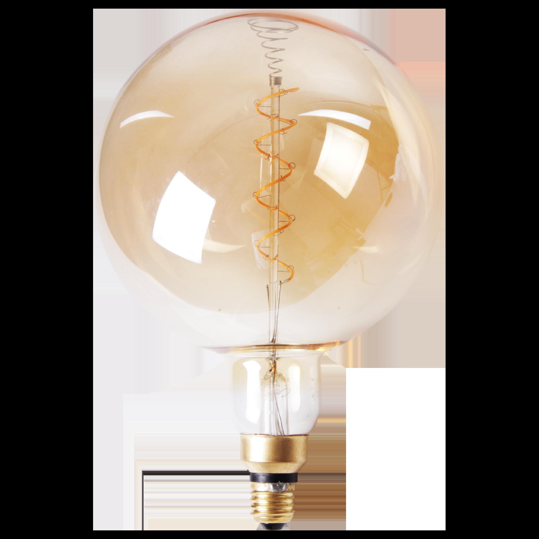 LED lamp filament bol spiraal groot Ø20 cm