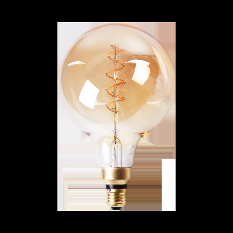 LED lamp filament bol spiraal klein Ø15 cm