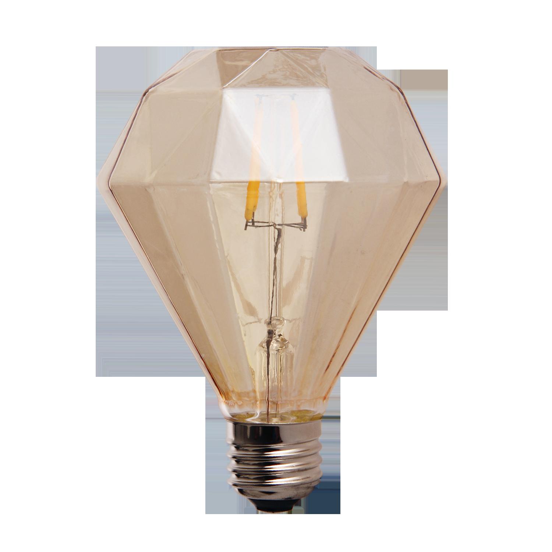 LED lamp filament diamond klein 4W goud