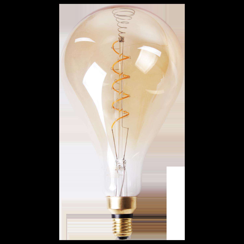 LED lamp filament druppel spiraal groot Ø16 cm