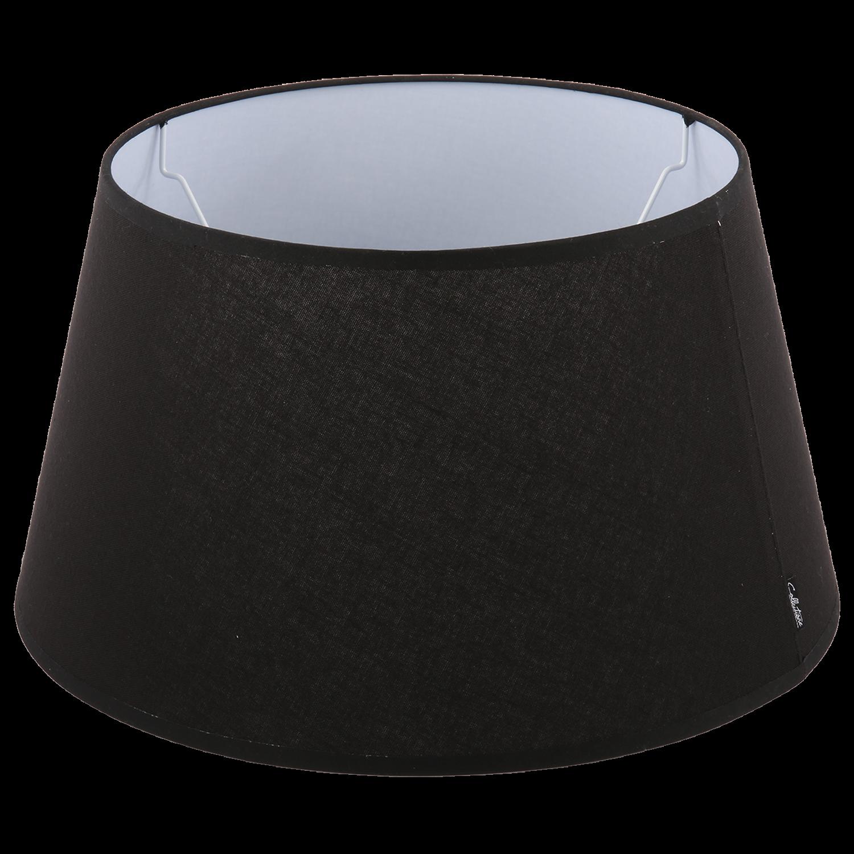 Staande lampenkap Eleganza drum 25 cm zwart