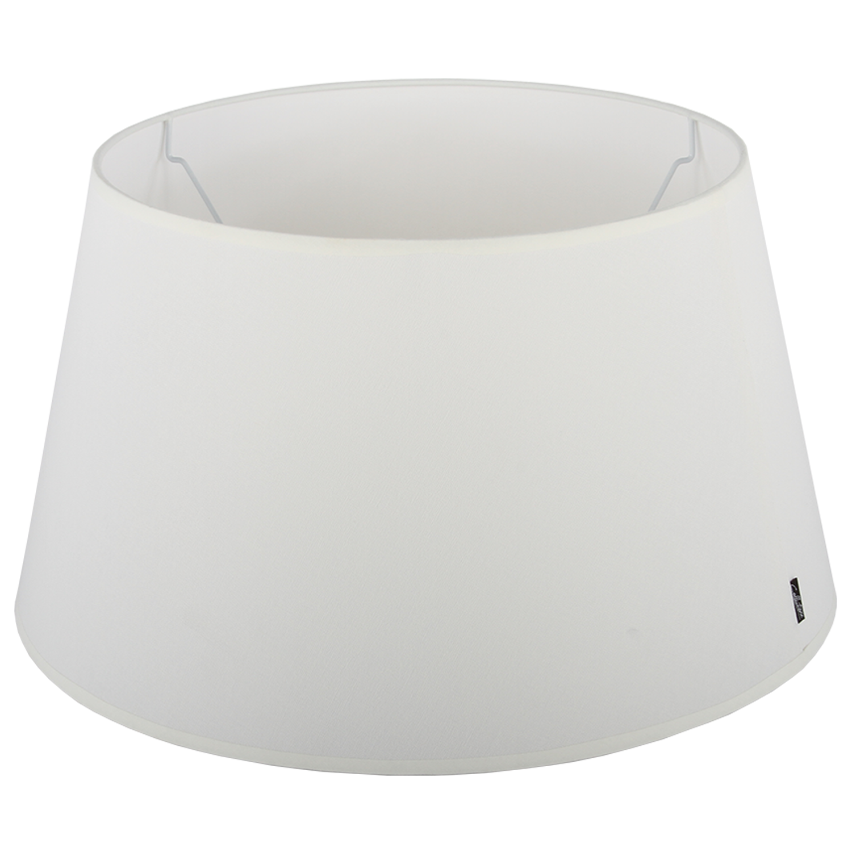 Staande lampenkap Eleganza drum 35 cm off white