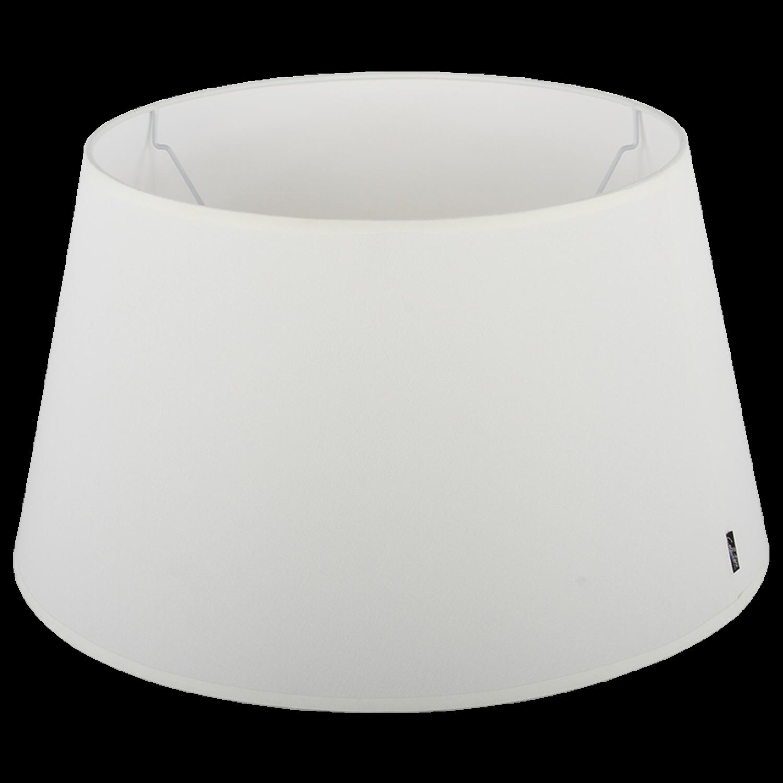 Staande lampenkap Eleganza drum 40 cm off white